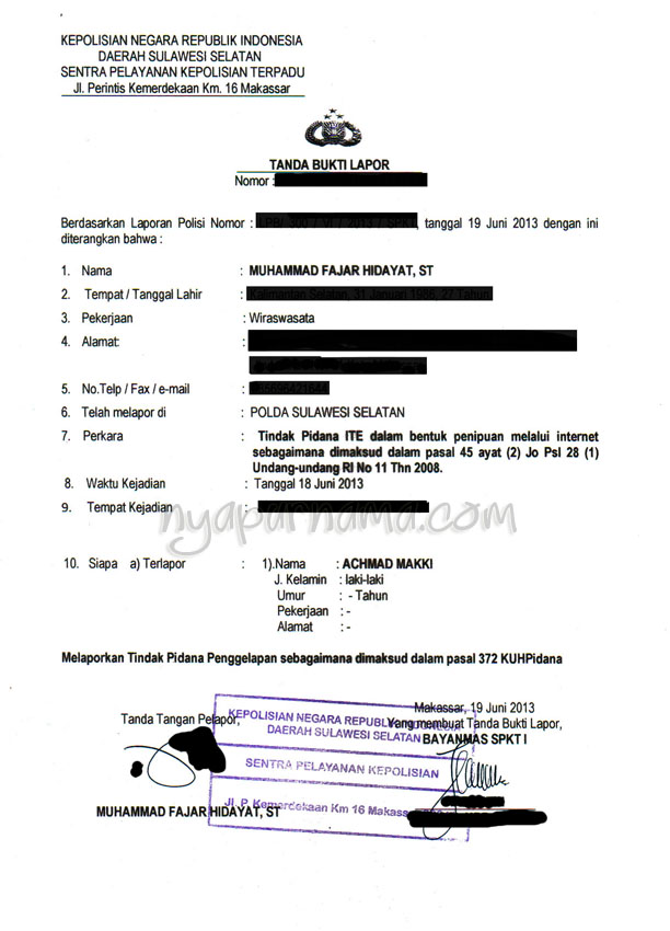 Step By Step Membuat Surat Permohonan Pemblokiran Rekening Penipu