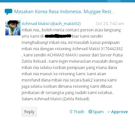komen ini yang dikirimkan oleh Achmad Makki, and it made my day :)